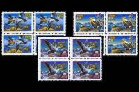 Квартблоки с почтовыми марками России - утки (продолжение серии).