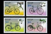 Почтовые марки - памятники науки и техники. Велосипеды.