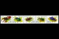 Почтовые марки - жуки.