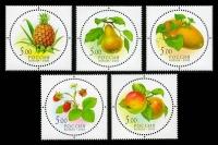 Почтовые марки России - дары природы.