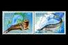 Казахстан 2002. Mi 394-395. Морская фауна. Совместный выпуск Казахстан-Украина.